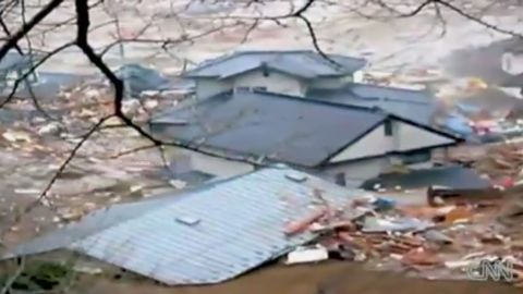 Video from March 11, 2011 shows residents of a town destroyed by the Japan tsunami running for their lives. CNN's Paula Hancocks reports.