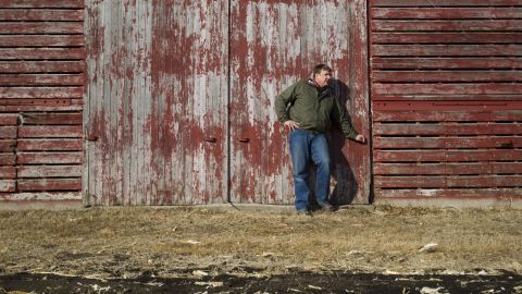 """Tofteland is a third generation farmer in Minnesota. """"When you plant the crop and all of a sudden the field is green, it matures and you tender it and care for it all summer, and the fall comes and it turns a golden brown,"""" he says, """"it's a great, great feeling."""""""