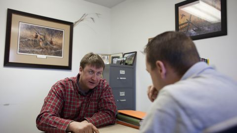 Business doesn't slow down amid the scandal. Here, Tofteland discusses a potential land deal.