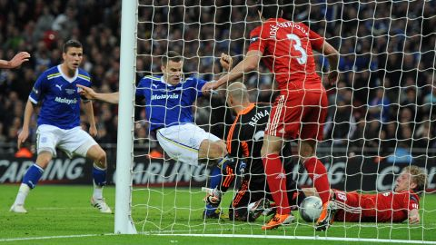But Cardiff refused to lie down and made it 2-2 with two minutes left in extra time when defender Ben Turner squeezed the ball over the line to force a penalty shootout.