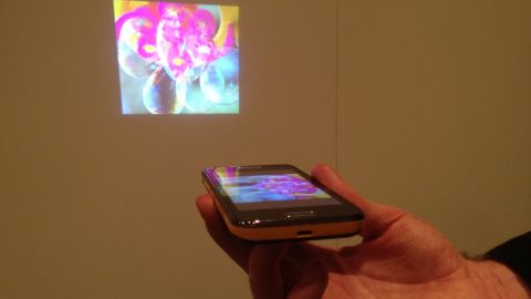 Samsung's Galaxy Beam features a built-in image projector