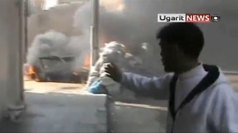 A known opposition activist Abu Jafar speaks on camera.