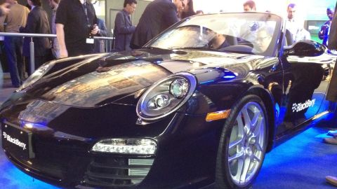 The fastest phone yet? BlackBerry showed off a device that pairs with a Porsche 911