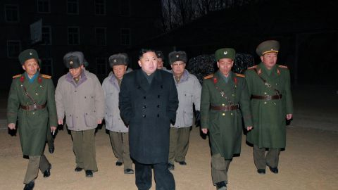 """This undated handout picture released from North Korea's official Korean Central News Agency on February 9, 2012 shows North Korean leader Kim Jong Un (C) inspecting  the Command of Large Combined Unit 324 of the Korean People's Army at undisclosed place in North Korea.   AFP PHOTO / KCNA via KNS   ---EDITORS NOTE--- RESTRICTED TO EDITORIAL USE - MANDATORY CREDIT """"AFP PHOTO / KCNA VIA KNS"""" - NO MARKETING NO ADVERTISING CAMPAIGNS - DISTRIBUTED AS A SERVICE TO CLIENTS (Photo credit should read KNS/AFP/Getty Images)"""