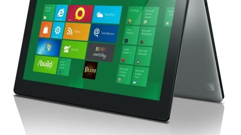 In Windows 8, app icons are live tiles, either square or rectangular in shape.