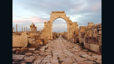 Leptis Magna in Libya was known as one of the most beautiful cities of the Roman Empire.  Archaeologist Hafed Walda shared this photo and others of some of the historical ruins in Libya.