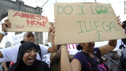 A New York City rally against Arizona's new immigration law in 2010.