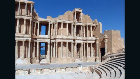 Sabratha was a Phoenician trading post that was rebuilt by the Romans in the 2nd and 3rd centuries A.D. Its most renowned feature is the theater, most likely built around 161-92 A.D., according to UNESCO.