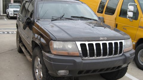 Mazik drove this Jeep through a chain-link fence and onto the runways at Philadelphia International Airport.