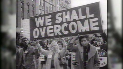 Marching in Selma, Alabama.