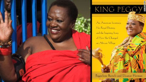 Before being chosen as ruler of her Ghanaian hometown, King Peggy was merely Peggielene Bartels, secretary.