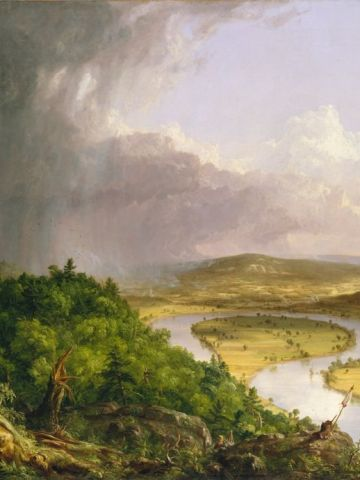 The natural environment was of great importance to painters from the Hudson River School.