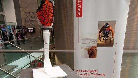 """""""Endura"""" is a knee socket for a prosthetic limb which could provide a more flexible fit for athletes during competition."""