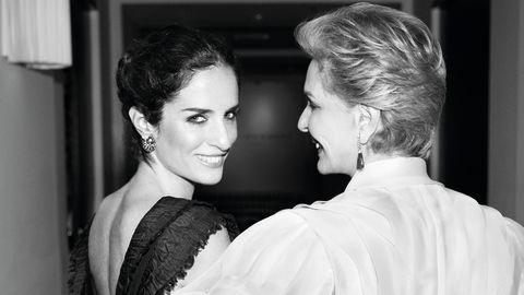 Carolina Herrera with her daughter Carolina Herrera Baez, who is the Creative Director of Carolina Herrera Fragrances.