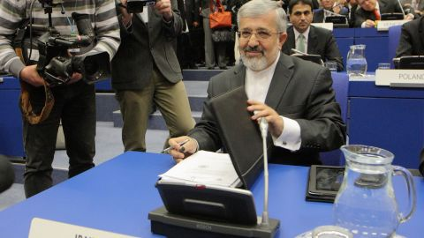 Iranian Ambassador to the IAEA looks on during an IAEA board of governors meeting at the UN atomic agency headquarters in Vienna on March 5, 2012