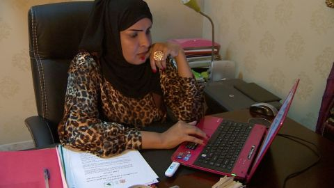 """Rawda Al-Youssef, pictured, runs a campaign called """"My Guardian Knows What's Best For Me"""" arguing men and women have complementary but not equal roles. She says women who campaign for more rights are a pampered minority who have no real problems."""