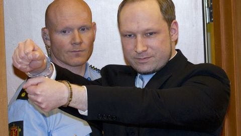 Anders Behring Breivik was charged last month with committing acts of terror and voluntary homicide.