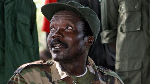 A file photo taken on November 12, 2006, shows the leader of the Lord's Resistance Army (LRA), Joseph Kony.