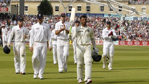 India were blown away by England in a 4-0 Test series defeat in 2011, a result which saw them usurped at the top of the world rankings by their opponents. But Dravid was in fine form despite the loss, scoring 461 runs in the series, including three centuries.