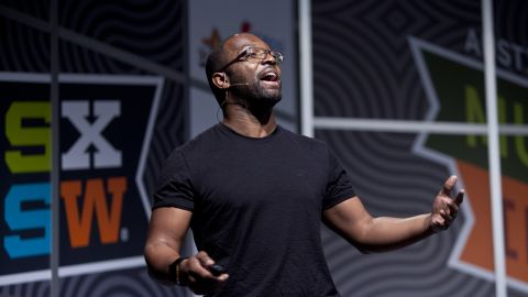 """Baratunde Thurston, editor at The Onion and author of """"How to Be Black,"""" speaks at South by Southwest Interactive."""
