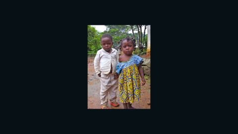 A boy and girl from an indigenous community in Djoum, Cameroon.