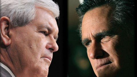 "Newt Gingrich mocks Mitt Romney's lack of ""grit"" knowledge."