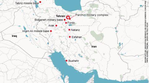 Possible targets of an Israeli air strike