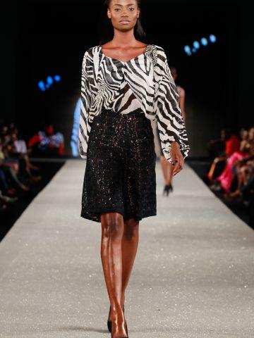 A model wears Nigerian label Phunk Afrique.