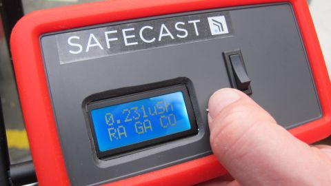 A handheld device to track the Geiger counter's results while inside the car.