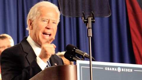 Vice President Joe Biden gave a speech at a United Auto Workers hall in Toledo, the first of four planned in coming weeks.
