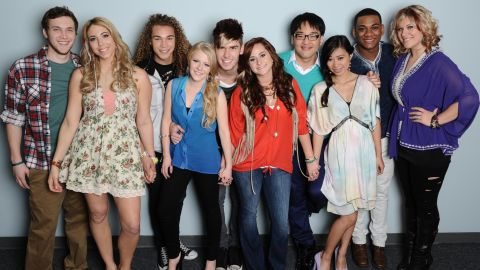 """The """"American Idol"""" top 10 contestants."""