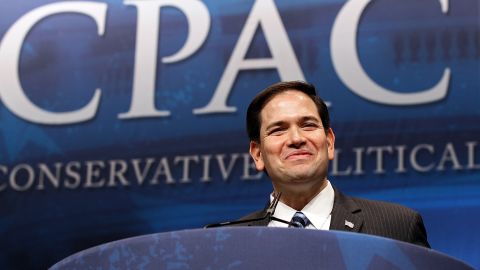 Sen. Marco Rubio, R-Florida, shown speaking in February, should push for immigration reform, Charles Garcia says.
