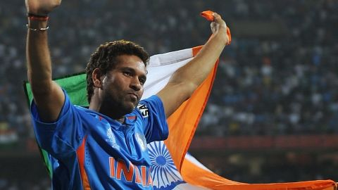 He had been stuck on 99 since the 2011 World Cup, when he closed to within one of the milestone with a ton against South Africa. Tendulkar helped India win the final against co-hosts Sri Lanka in his home city of Mumbai on April 2. He scored only 18 in that match, but was India's top runscorer as his country won the 50-over tournament for the first time.