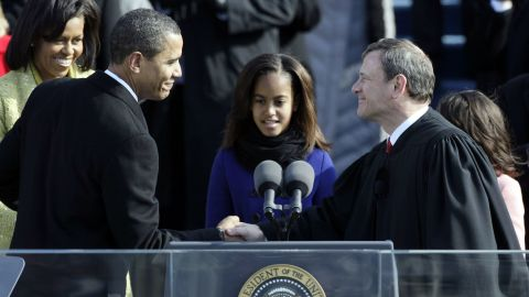 President Obama, who was sworn in by Chief Justice John Roberts, may be pitted against him over healthcare.