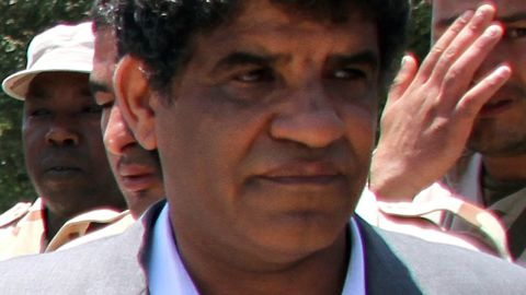 Head of Libyan intelligence, Abdullah al-Senussi, 62, is pictured in Tripoli on June 22, 2011. Judges at the International Criminal Court issued an arrest warrant for Libyan leader Moamer Kadhafi, his son Seif al-Islam and Senussi for war crimes and crimes against humanity on June 27, 2011. AFP PHOTO/STR (Photo credit should read -/AFP/Getty Images)