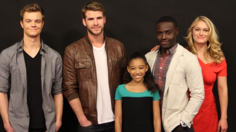 the cast from The Hunger Games visits CNN to answer iReporter questions