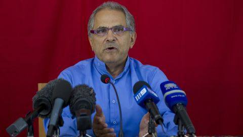 East Timor President Jose Ramos-Horta officially announces his resignation at a press conference on March 19, 2012 in Dili, East Timor.