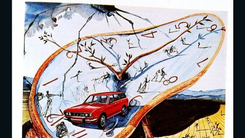 An advertisement for the Datsun-1972 created by Spanish artist Salvador Dali.