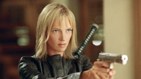 """Quentin Tarantino's bloody """"Kill Bill"""" films featured Uma Thurman as The Bride, a former assassin who seeks revenge on her ex-colleagues and her lover after they almost kill her at her wedding. Thurman went on to win many awards for her role, and the martial arts-heavy film gained cult status."""