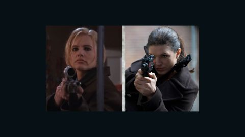 """Some honorable mentions: Geena Davis as Samantha Caine in """"The Long Kiss Goodnight"""" (1996), Summer Glau as River in """"Serenity"""" (2005), Charlize Theron as Aeon Flux in """"Aeon Flux"""" (2005), Keira Knightley as Domino Harvey in """"Domino"""" (2005), Gina Carano as Mallory Kane in """"Haywire"""" (2011)."""