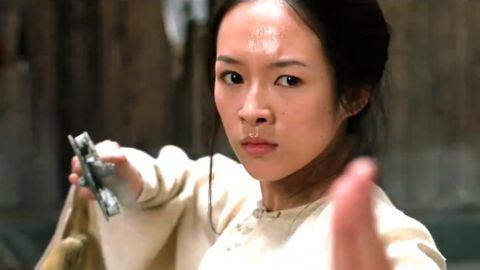 """In """"Crouching Tiger, Hidden Dragon"""" (2000), Yu Shu Lien, played by Michelle Yeoh, and Li Mu Bai, played by Chow Yun Fat, are Wudang warriors in pursuit of a stolen sword who encounter the skilled teenager Jen Yu, played by Ziyi Zhang (pictured here). The fight sequences and the epic tale led to an Academy Award for best foreign language film."""