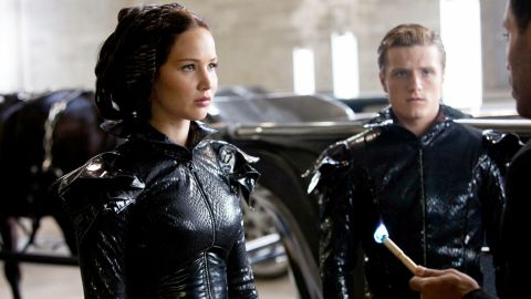 """Jennifer Lawrence and Josh Hutcherson star in """"The Hunger Games."""""""