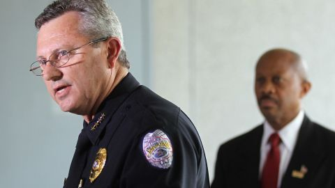 Sanford Police Department Chief Bill Lee announces he will temporarily step down.
