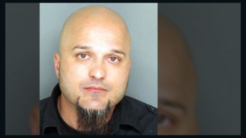 Gilbert Olivares, 34, is accused of taping students having sex in his office.