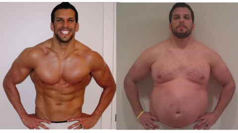 """Personal trainer Drew Manning went from being ideal to overweight for his """"Fit 2 Fat 2 Fit"""" campaign."""