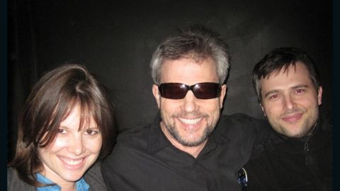 Karl Marlantes, with shades, at a Los Angeles jazz club with his daughter, Laurel, and his son, Peter.