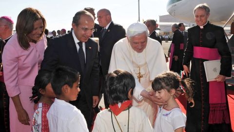 The Pope called for better recognition of the Church upon arriving Friday in Mexico, where he received a rousing welcome in the central, heavily Catholic state of Guanajuato.