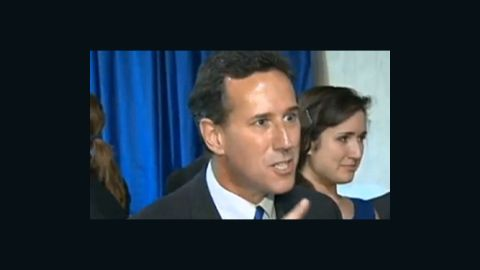 Rick Santorum in a heated exchange with a New York Times reporter