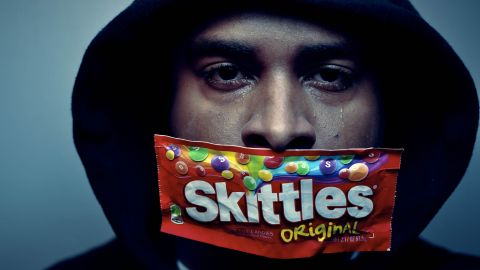 """New York photographer Darrel Dawkins wants to send a message about the Trayvon Martin story, as do many iReporters who shared self-portraits in support of the movement. """"We shouldn't stay silent. We should basically talk about those who are out there discriminating and those who are racist."""""""