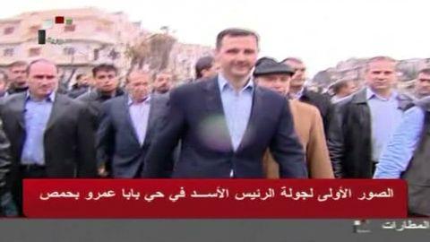 vo syria pres assad tours homs_00001424